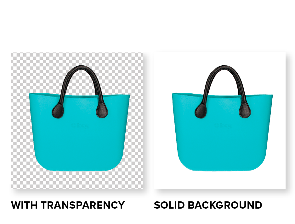 with and without custom background