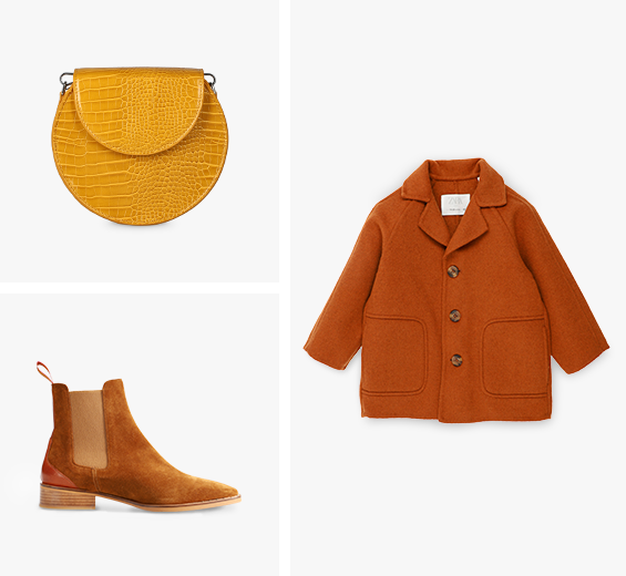 clothes and shoes in picture grid